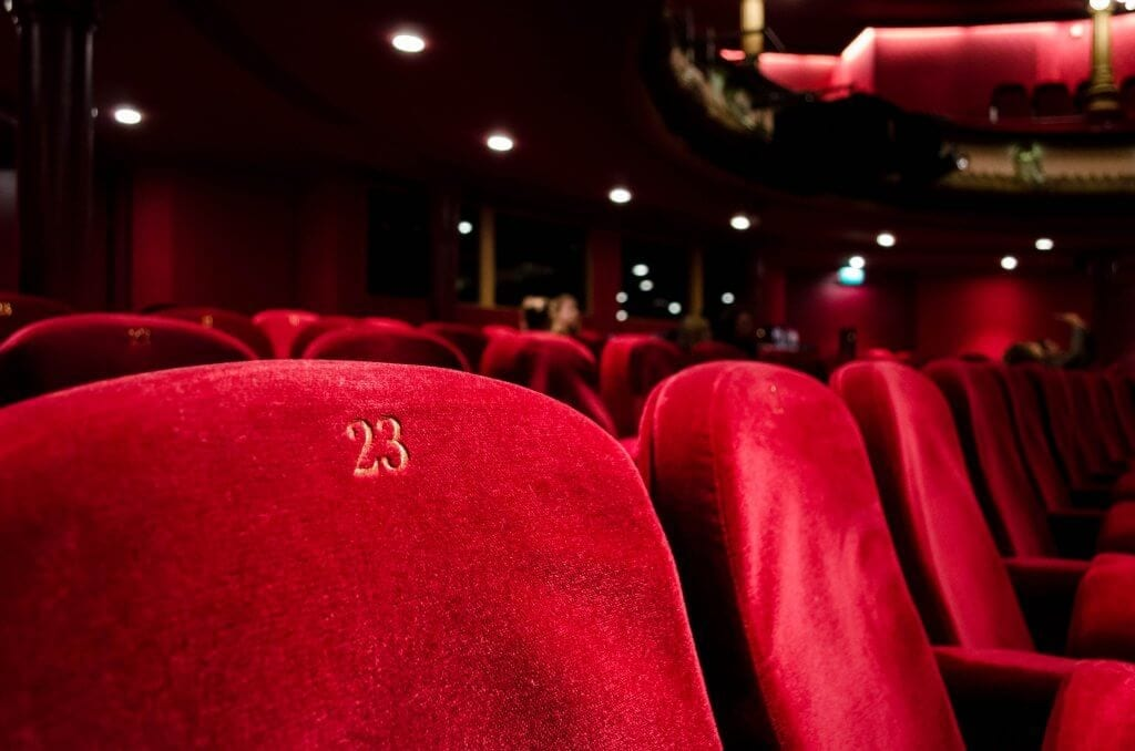 Closeup of Cinema seats
