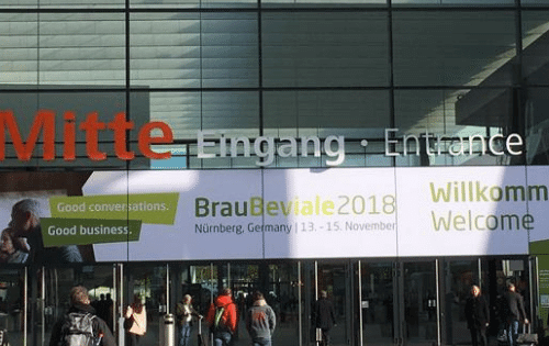 Picture of the entrance to BrauBeviale conference 2018